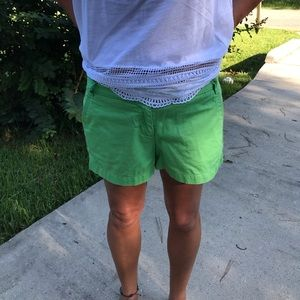 Green shorts, size6